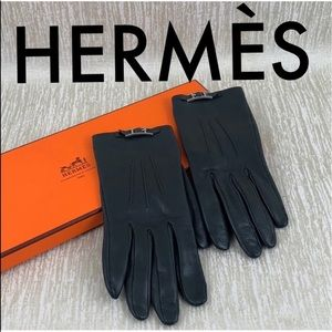 👑 HERMÈS LAMBSKIN LEATHER GLOVES 💯AUTHENTIC